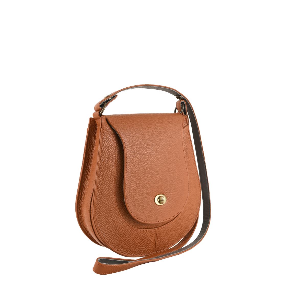 Hattie Burnt Orange Leather Shoulder Bag