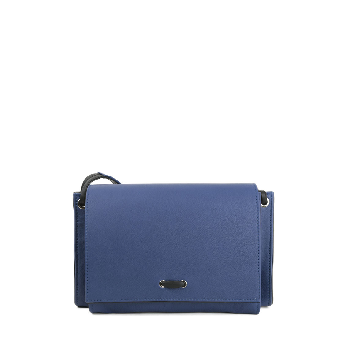 Isobel Blue Leather Across Body Bag