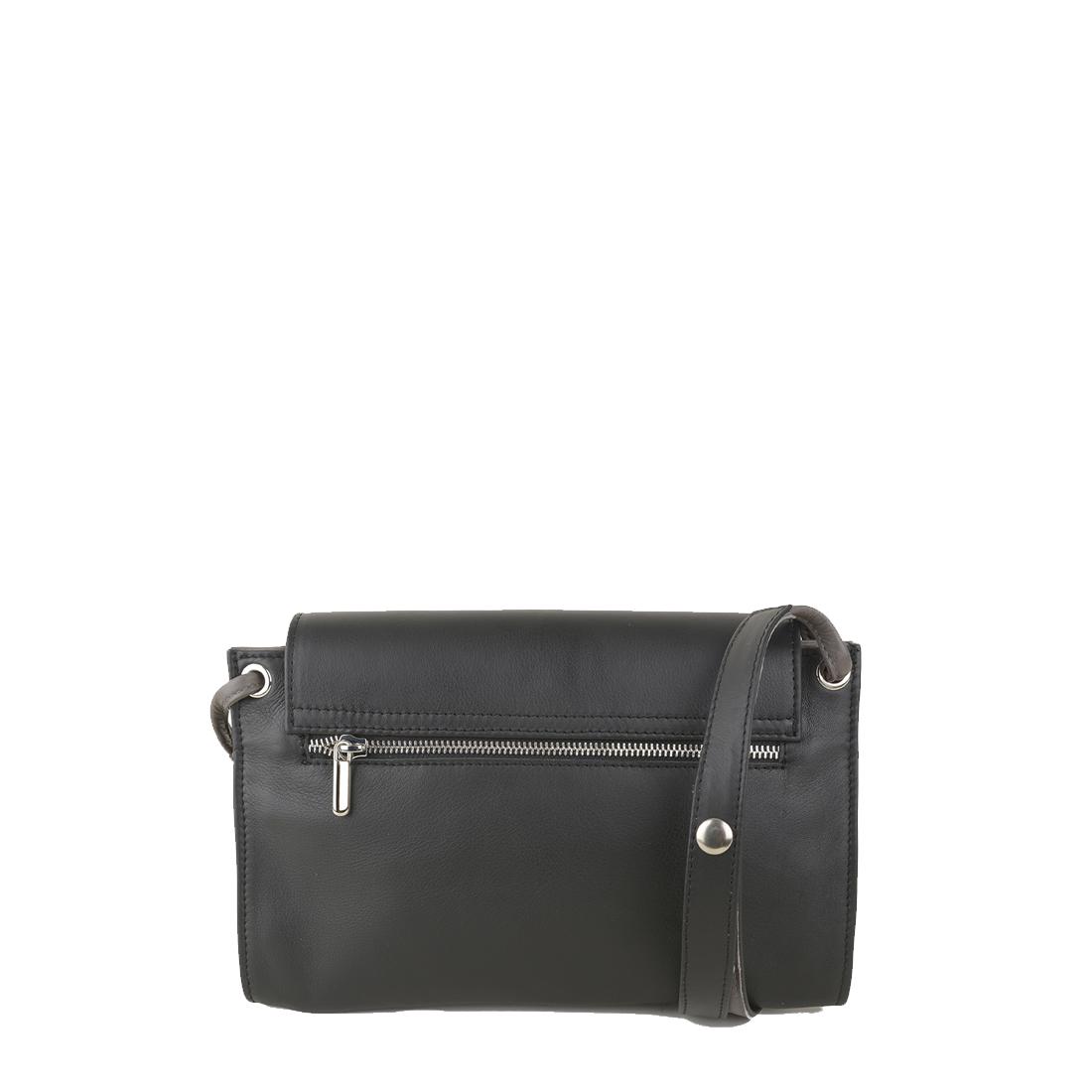 Isobel Black Grigio Leather Across Body Bag