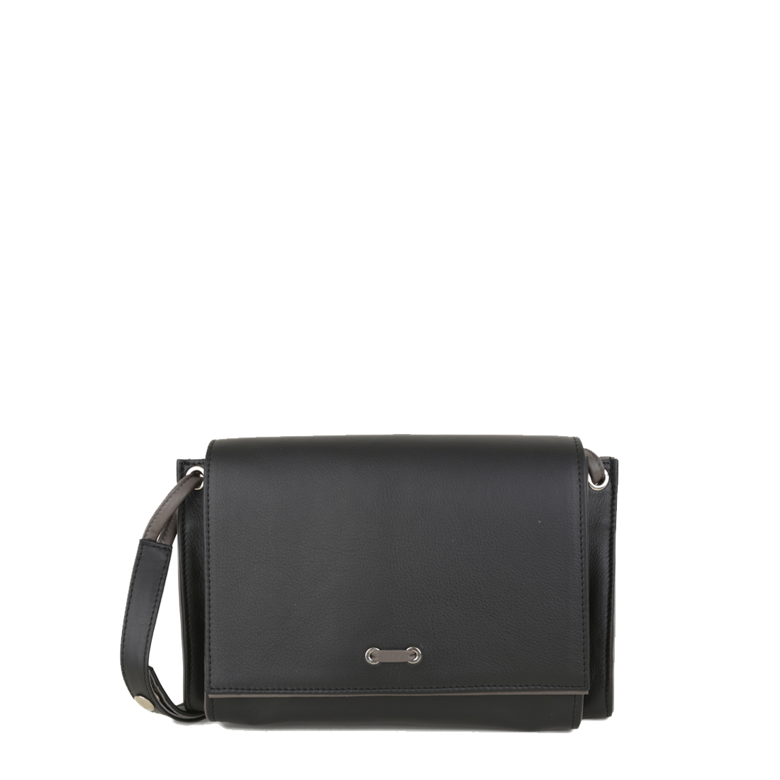 Isobel Black Grigio Leather Across Body Bag