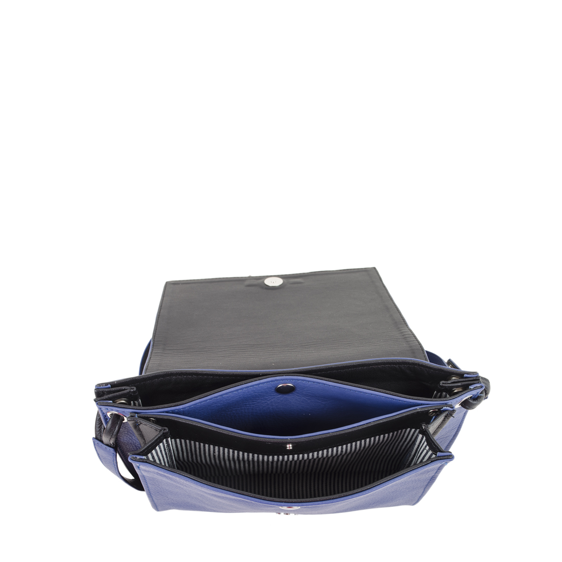 Isobel Blue Leather Across Body Bag