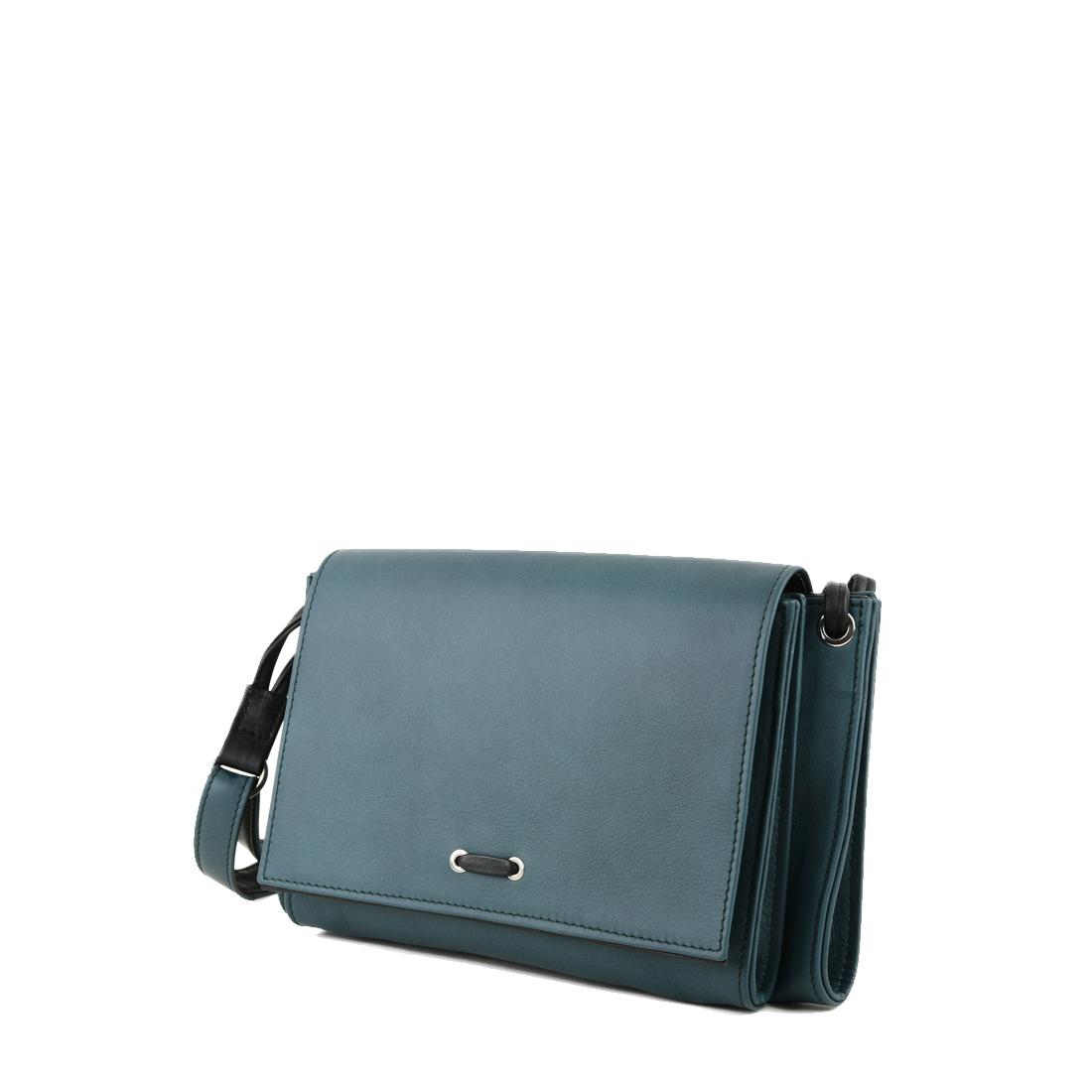 Isobel Teal Leather Across Body Bag
