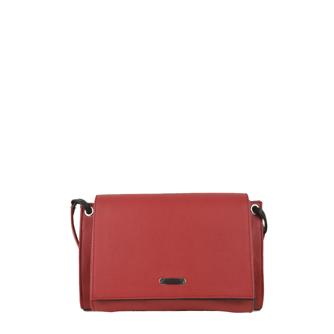 Isobel Red / Black Leather Across Body Bag