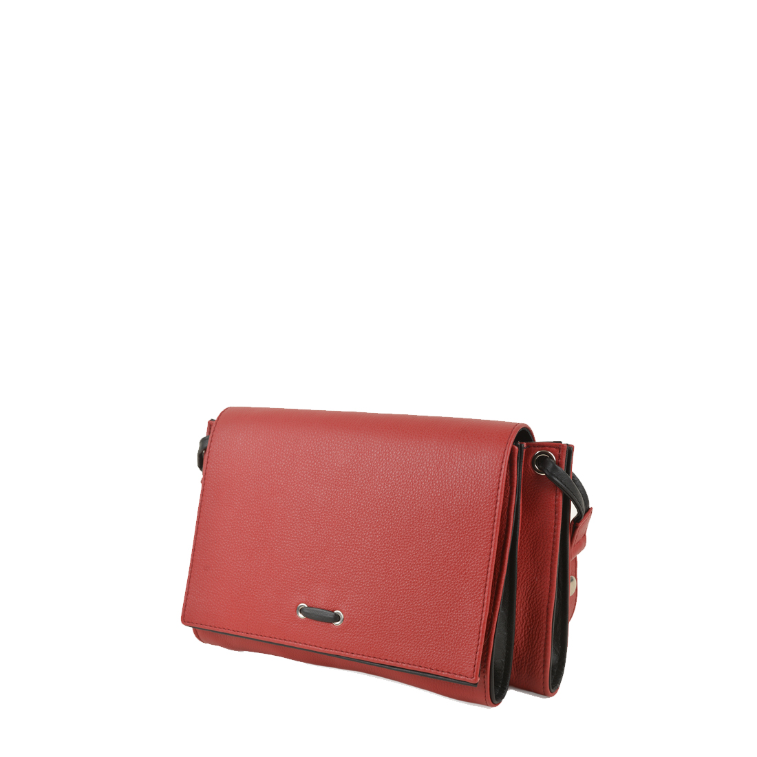 Isobel Red / Black Leather Across Body Bag