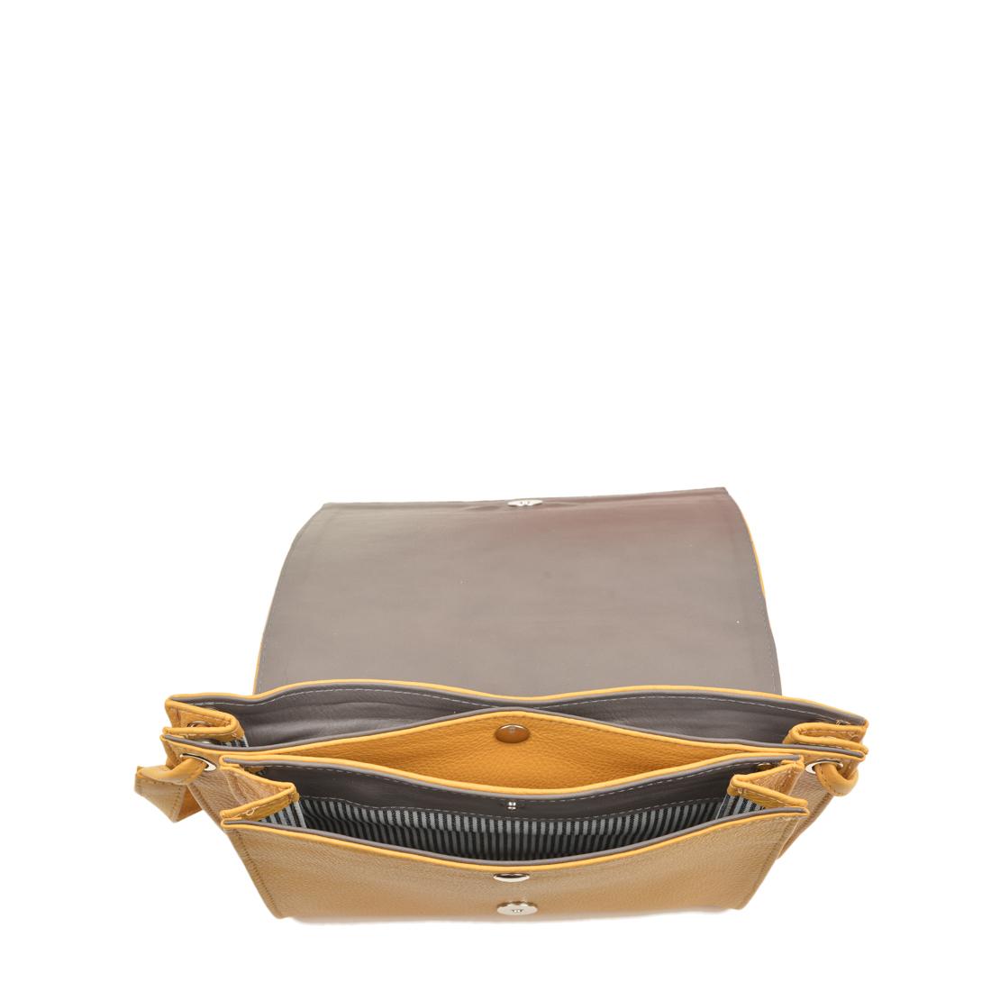 Isobel Yellow Leather Across Body Bag