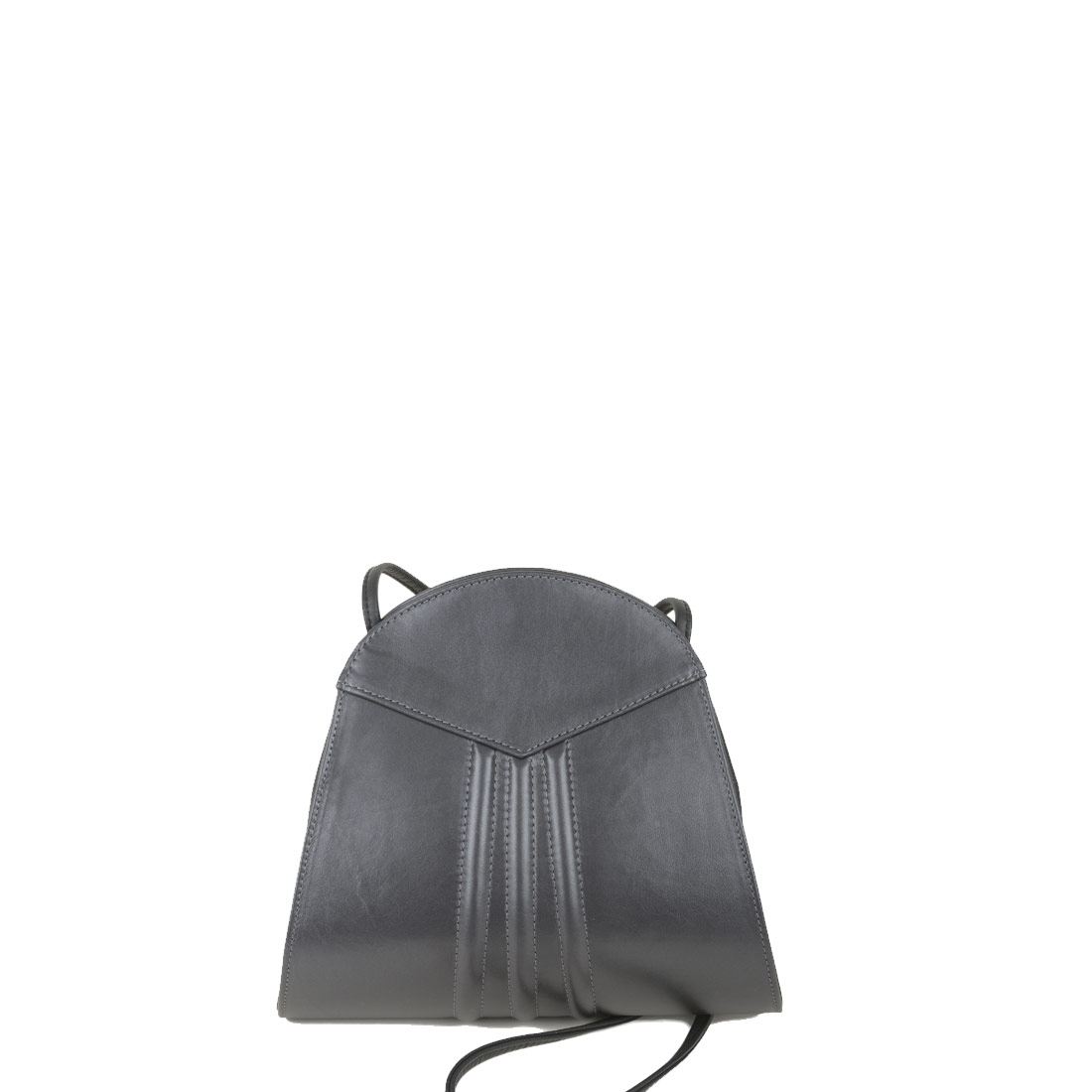 Ivy Pewter Leather Shoulder Bag