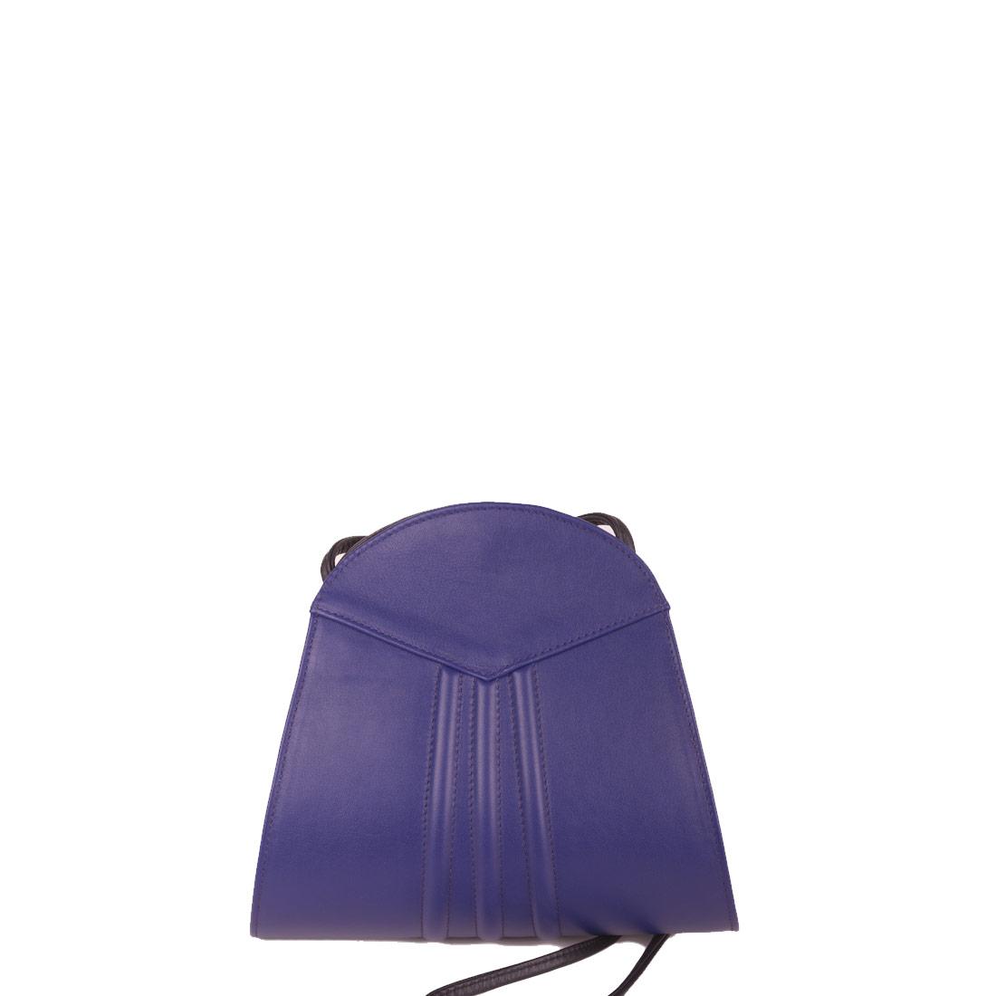 Ivy Violet Blue Leather Shoulder Bag