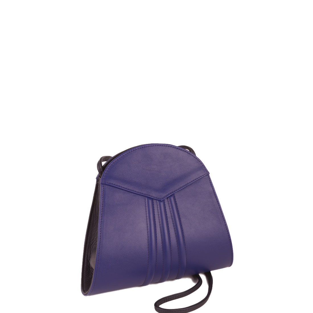 Ivy Violet Blue Leather Shoulder Bag