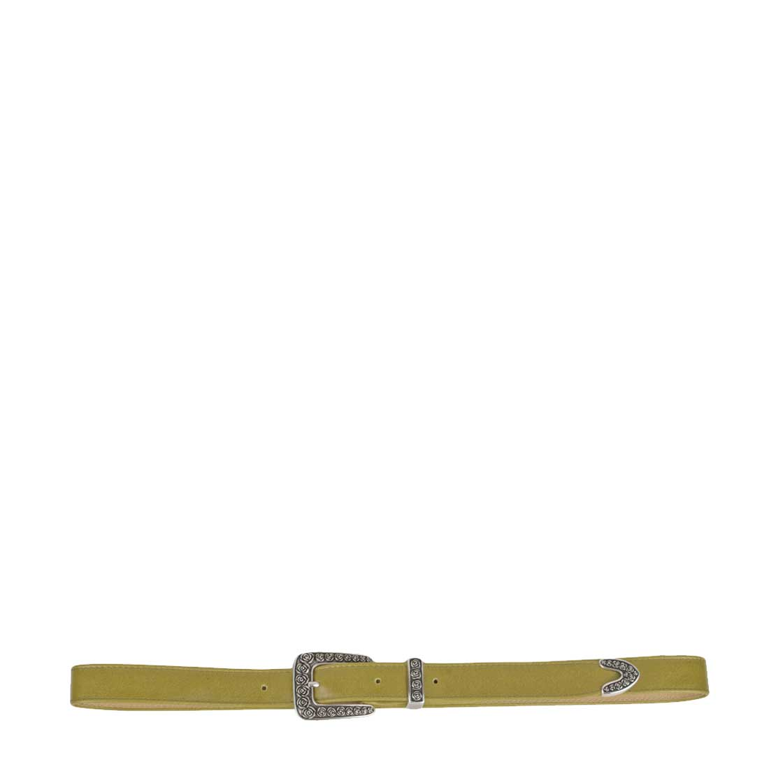 Rose Lime Leather Belt
