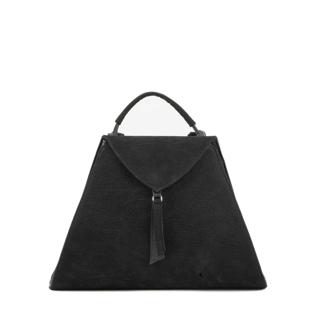 Josie Black Nubuck Leather Backpack