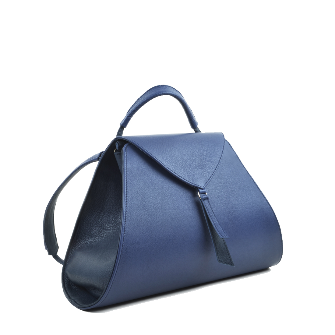 Josie Blue Leather Backpack