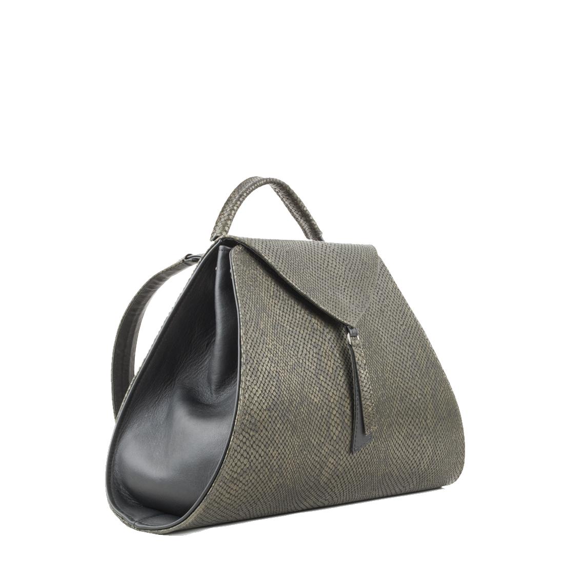 Josie Green Snake Print Leather Backpack