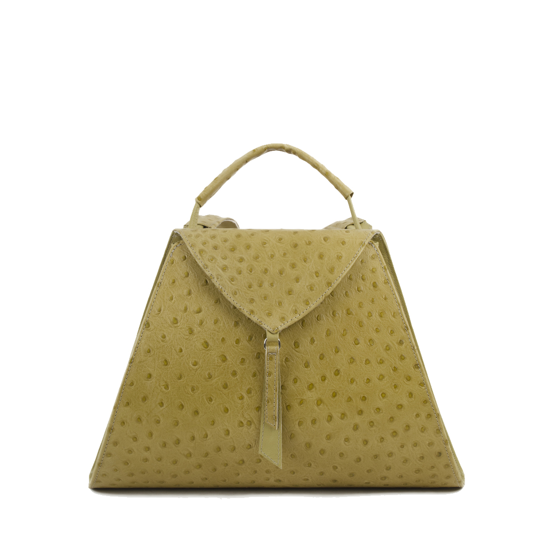 Josie Lime Ostrich Print Leather Backpack