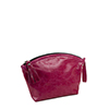 Wrist Bag In Fuchsia Leather
