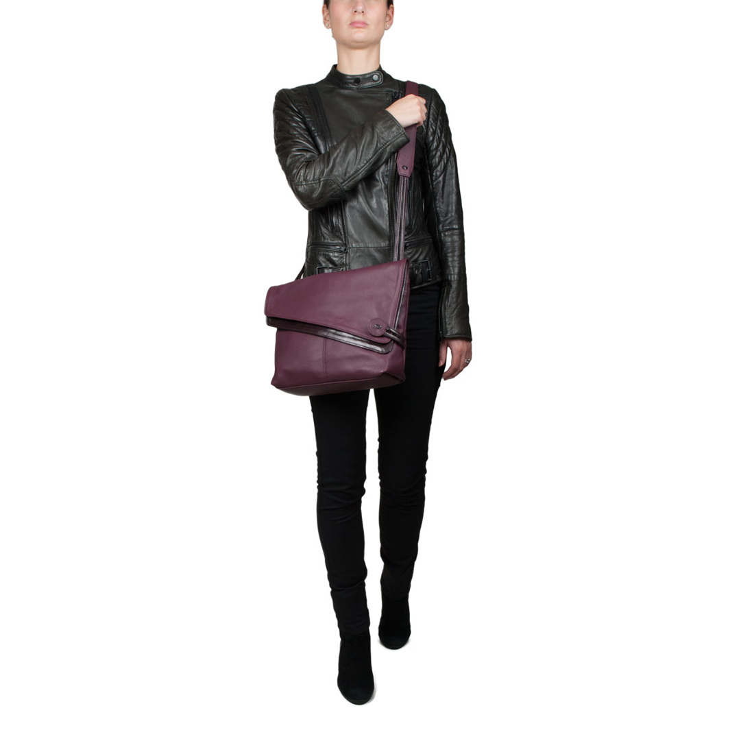 Lindsay Brown Across Body Leather Bag