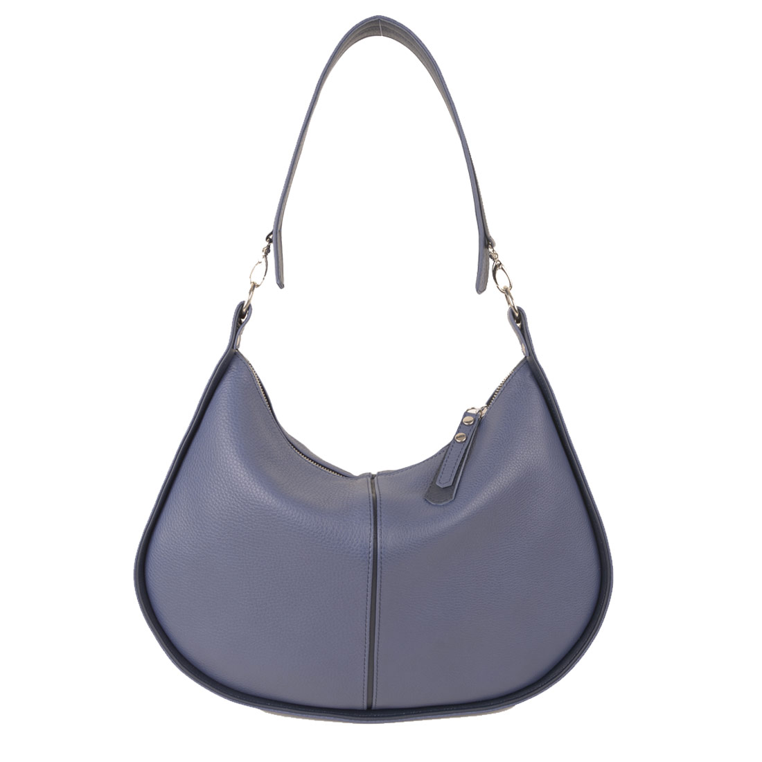 Lizzie Chalk Blue  Leather Shoulder Bag