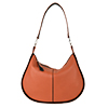 Lizzie Orange Leather Shoulder Bag