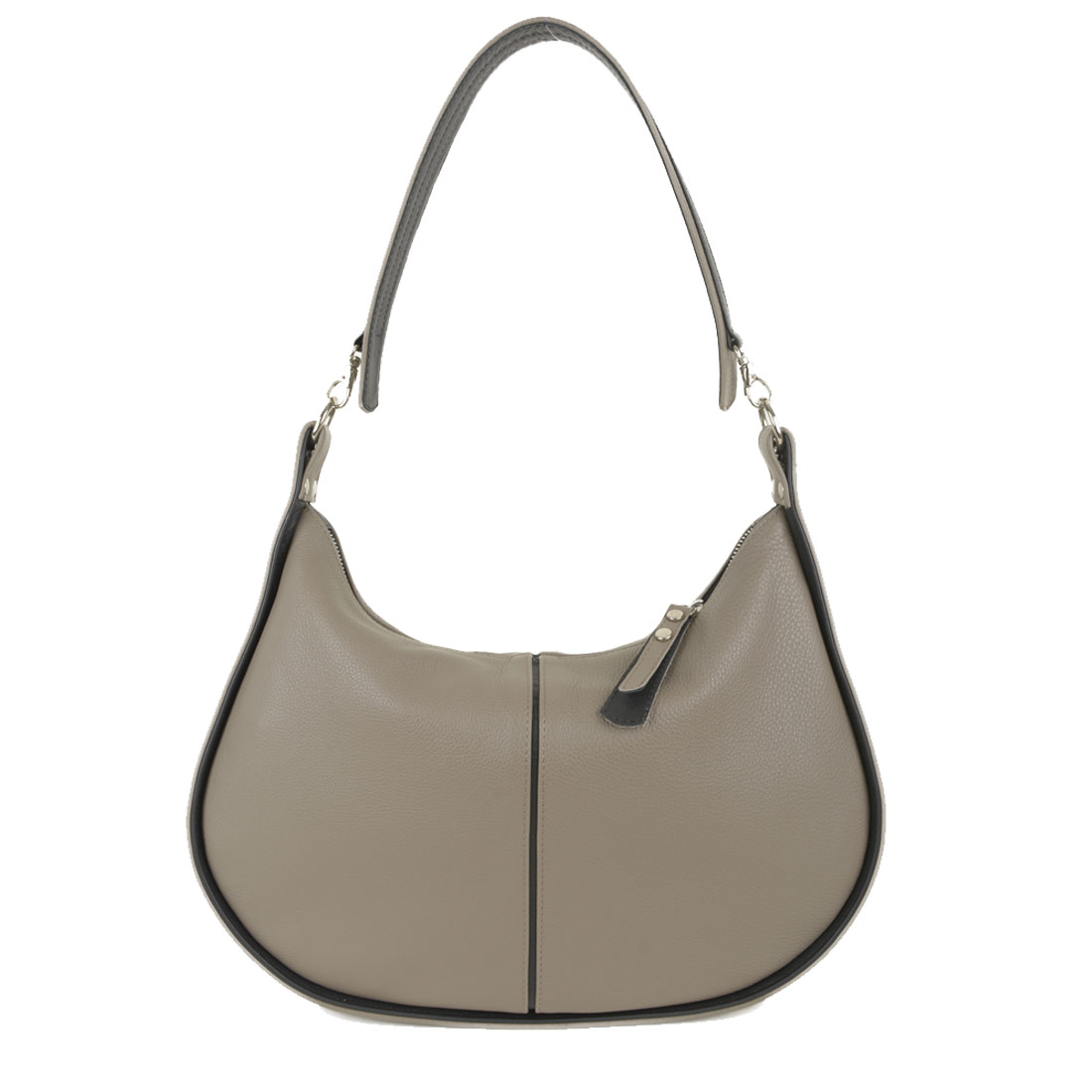 Lizzie Taupe Leather Shoulder Bag