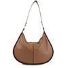 Lizzie Tan Leather Shoulder Bag