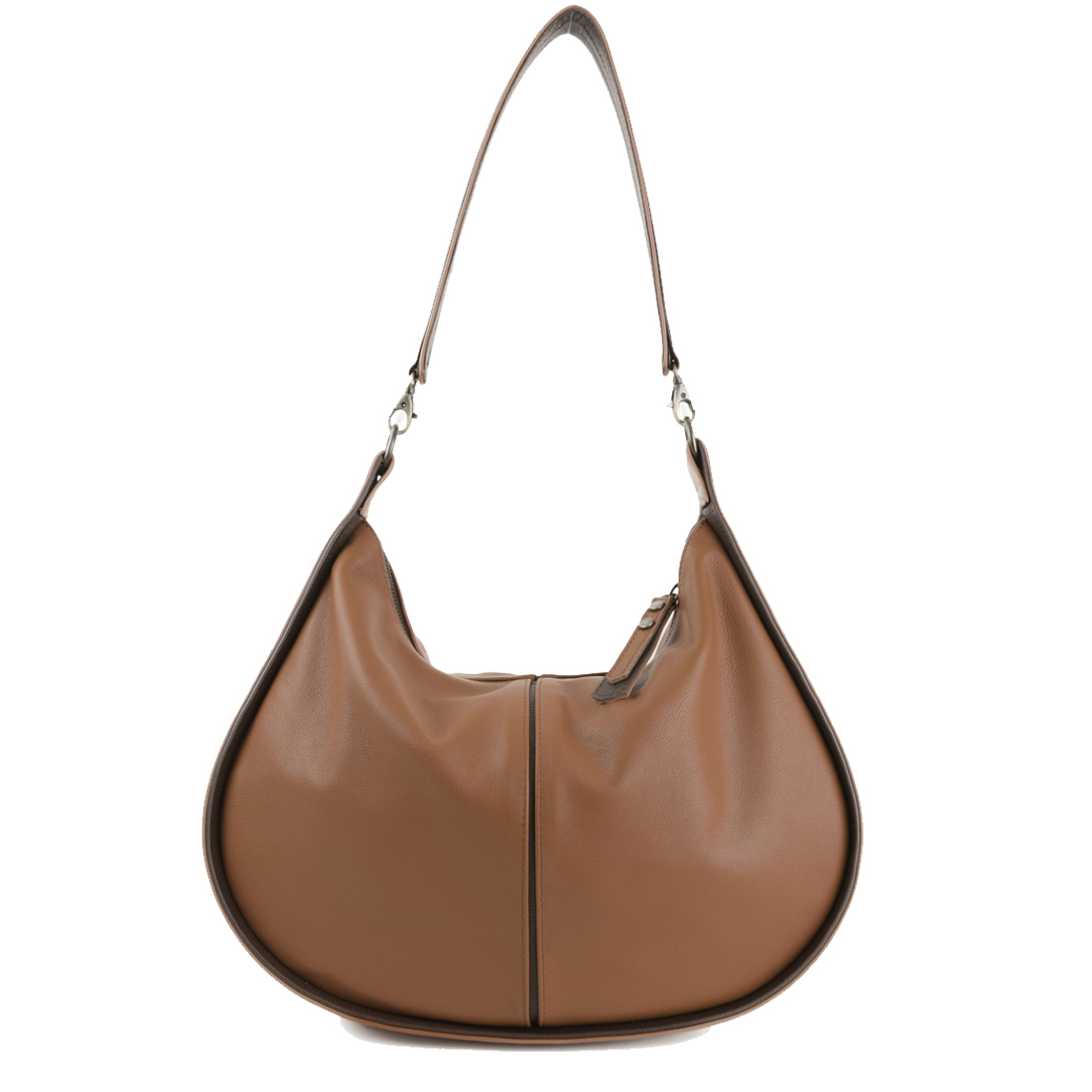 Lizzie Tan Leather Shoulder Bag