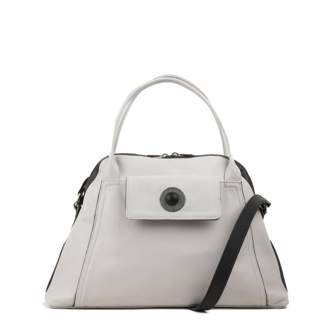 Lottie Polvere Leather Shoulder Bag