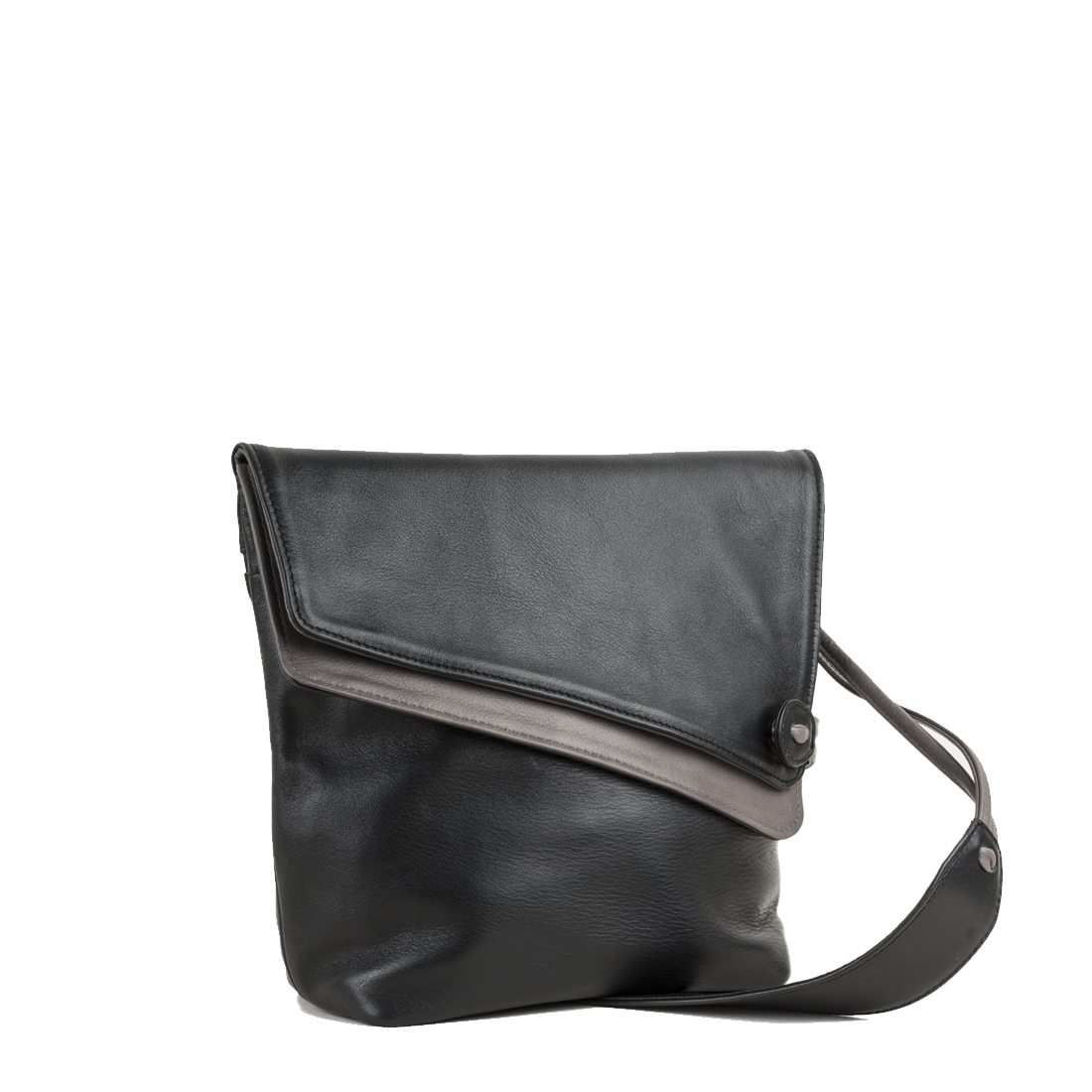Louise Black Across Body Leather Bag