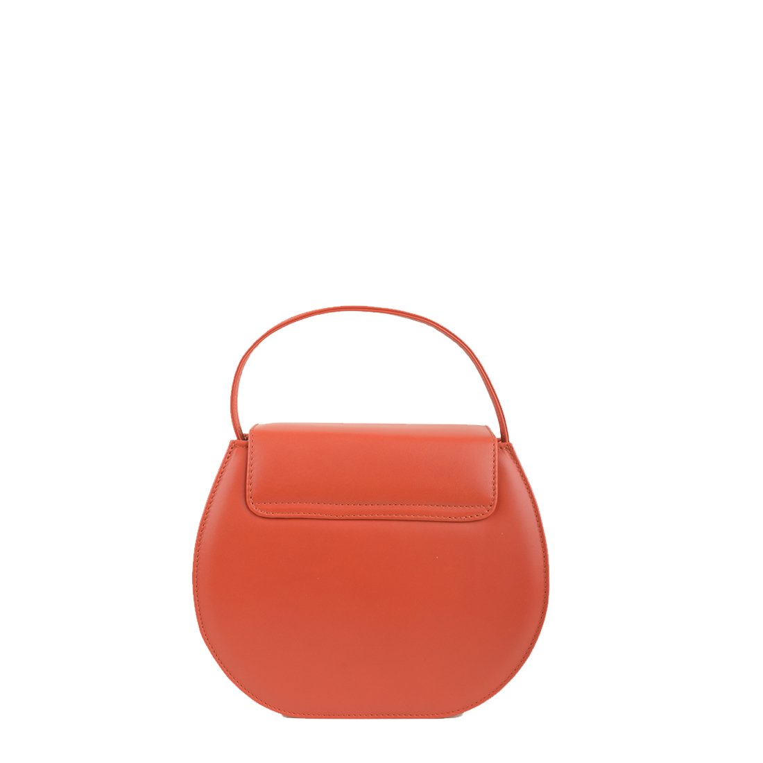 Mae Orange Leather Shoulder Bag
