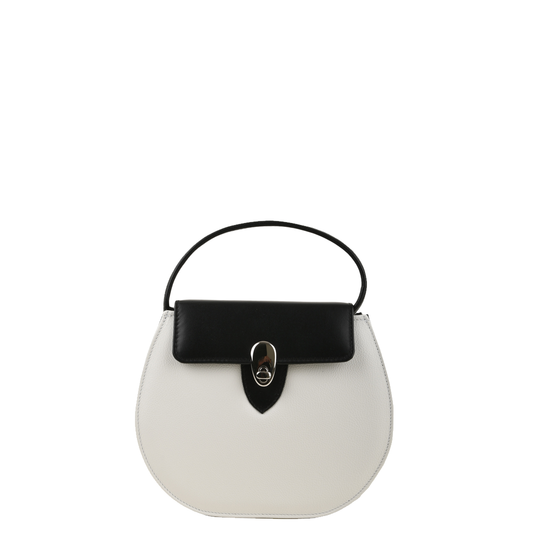 Mae Bianco Leather Shoulder Bag