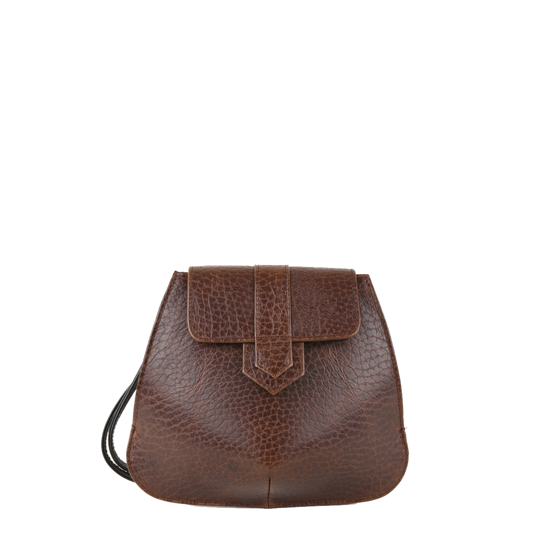 Margot Dark Brown Leather Evening Bag