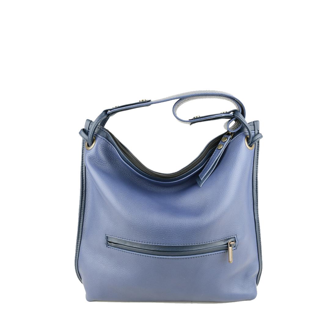 Maria Chalk blue Leather Shoulder Bag