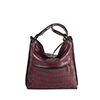 Maria Burgundy Red Leather Shoulder Bag