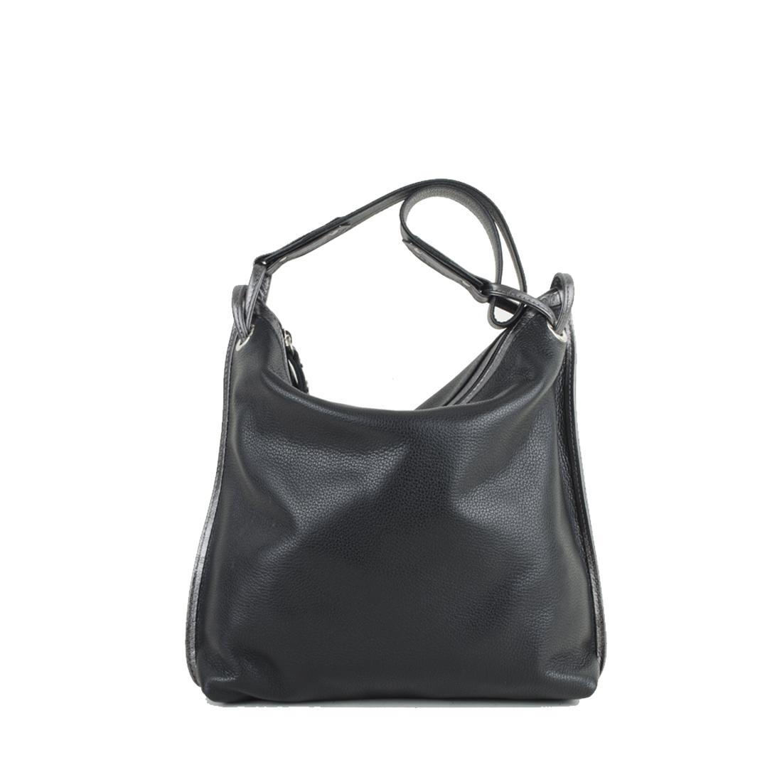 Maria Black Leather Shoulder Bag
