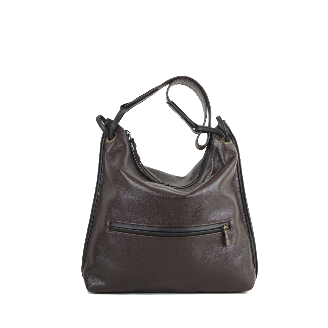 Maria Brown Leather Shoulder Bag