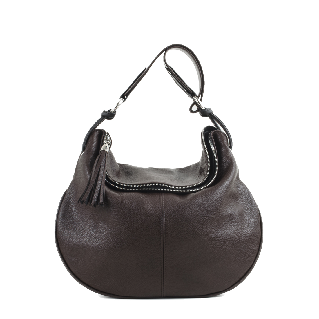 Matilda Brown Leather Shoulder Bag