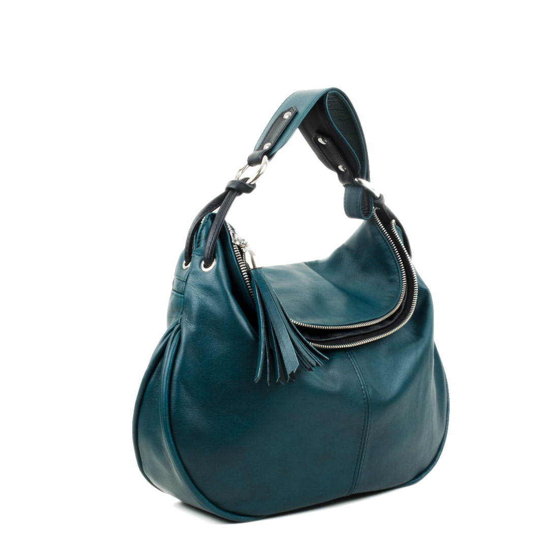 Matilda Teal Leather Shoulder Bag