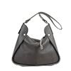 Meredith Grigio Pomice Leather Shoulder Bag.