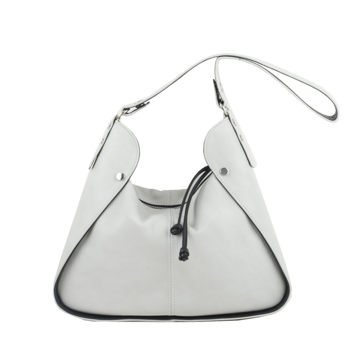 Meredith Polvere Leather Shoulder Bag.