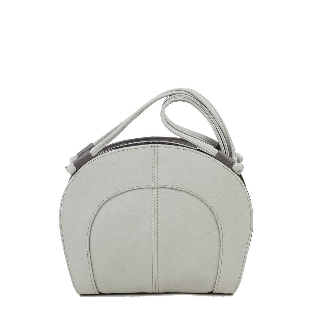 Molly Pale Grey Leather Shoulder Bag