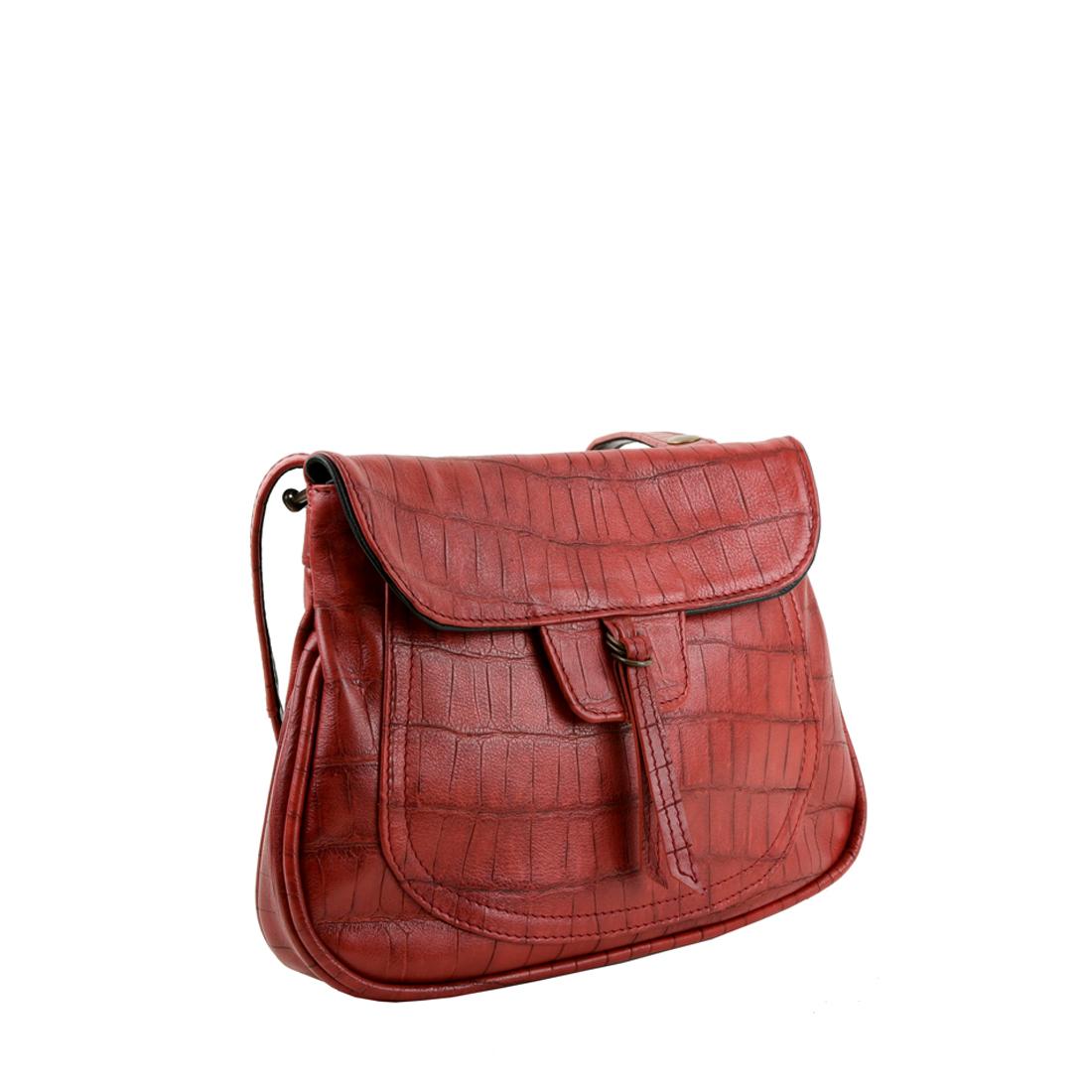 Nina Dark Coral Across Body Bag