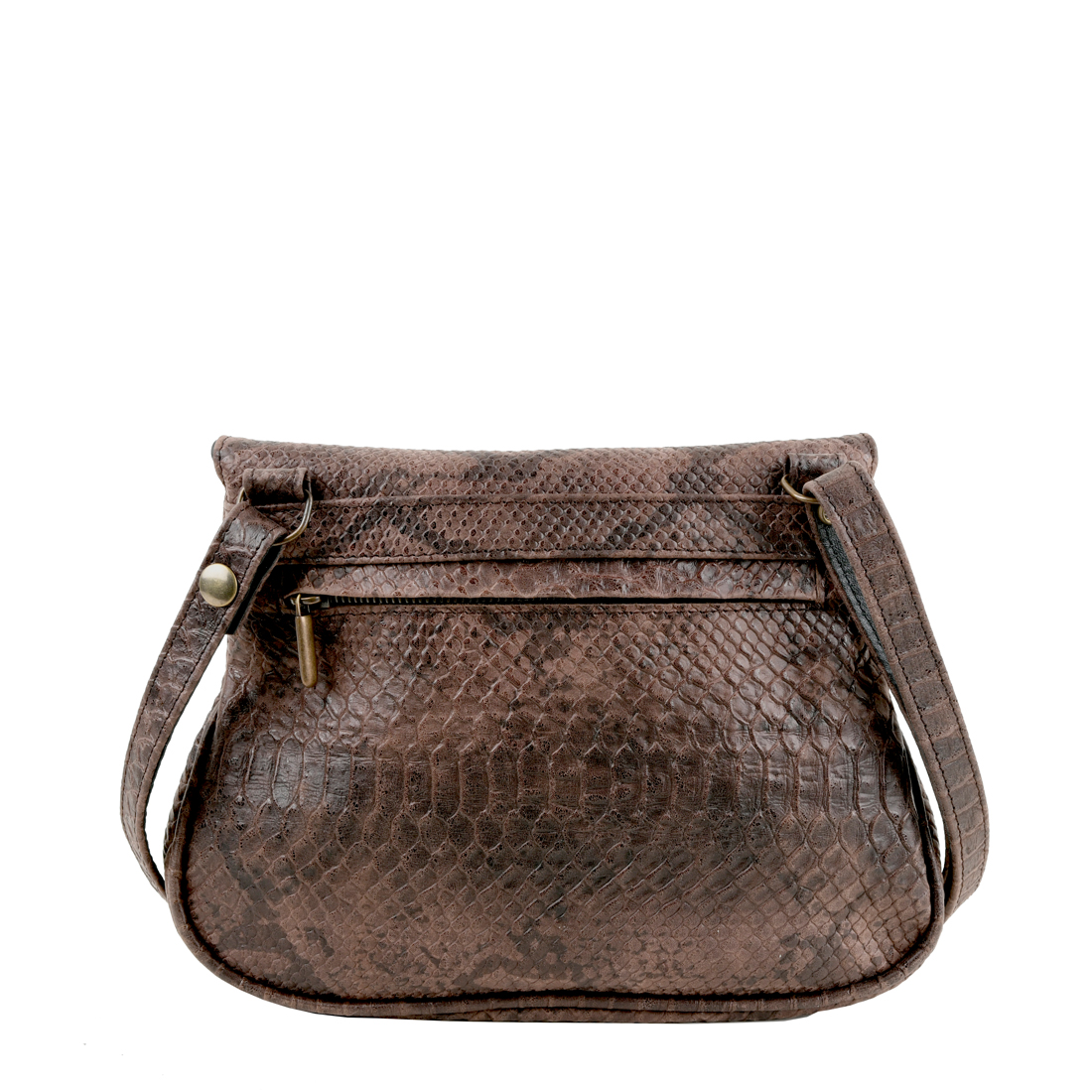 Nina Snakeskin Print Across Body Bag