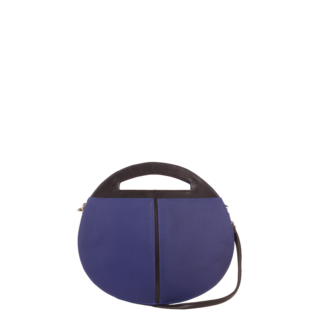 Olivia Blue with black Leather Shoulder Bag
