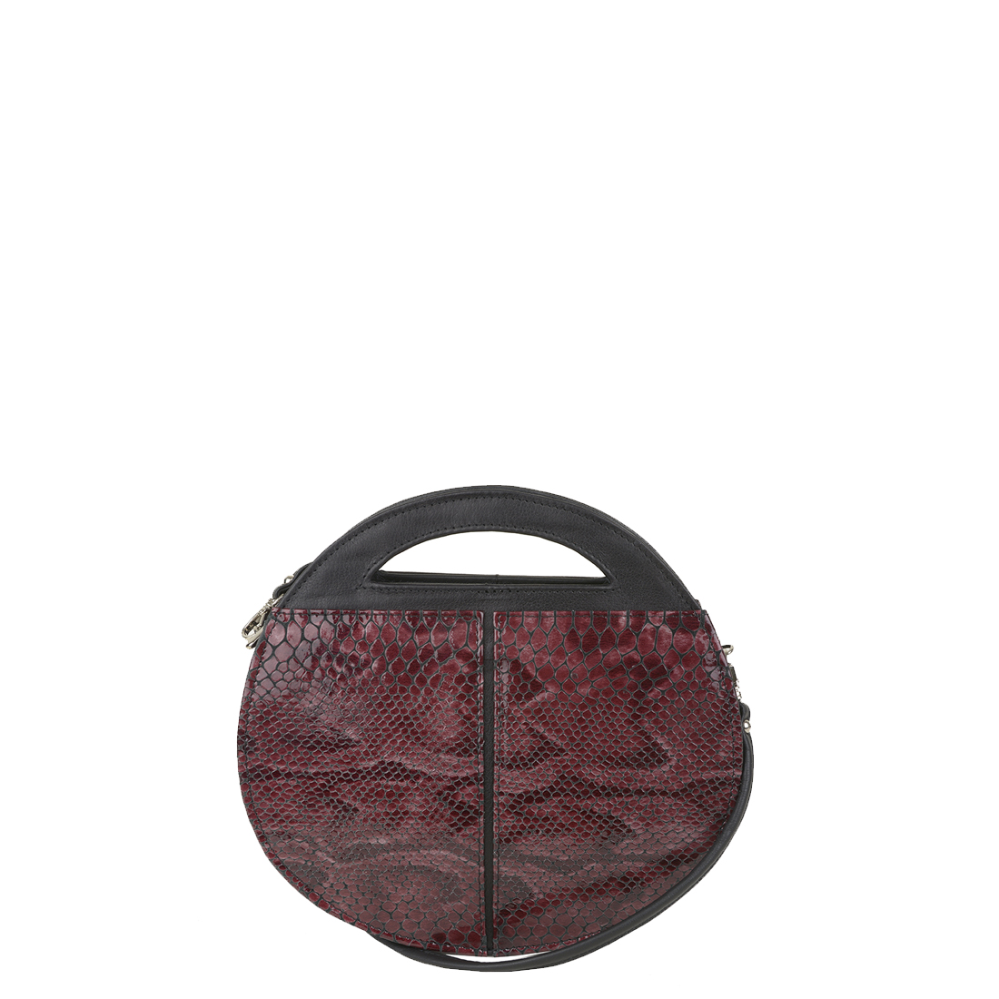 Olivia Plum Python Print  Leather Shoulder Bag