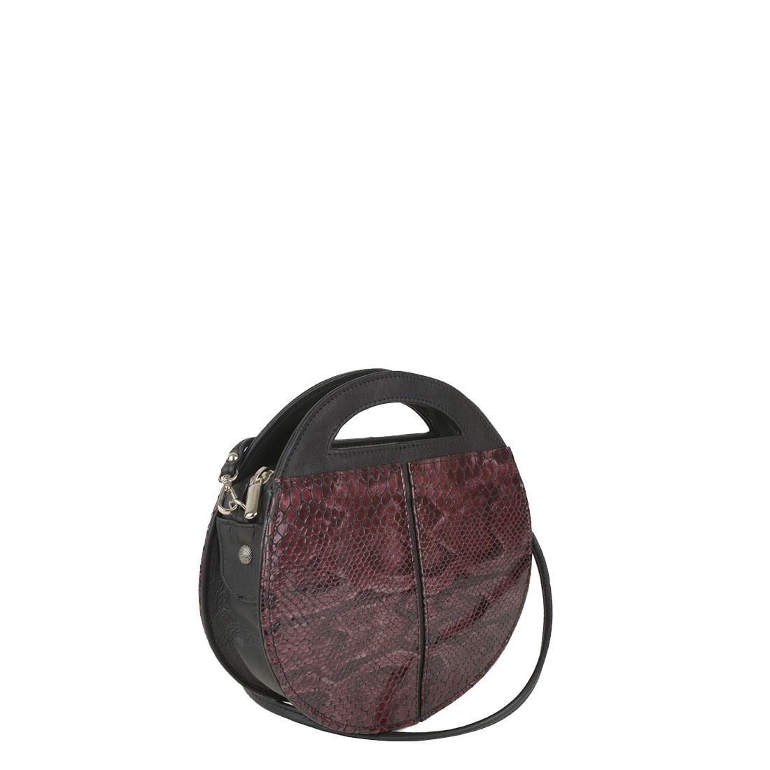 Olivia Plum Python Print  Leather Shoulder Bag