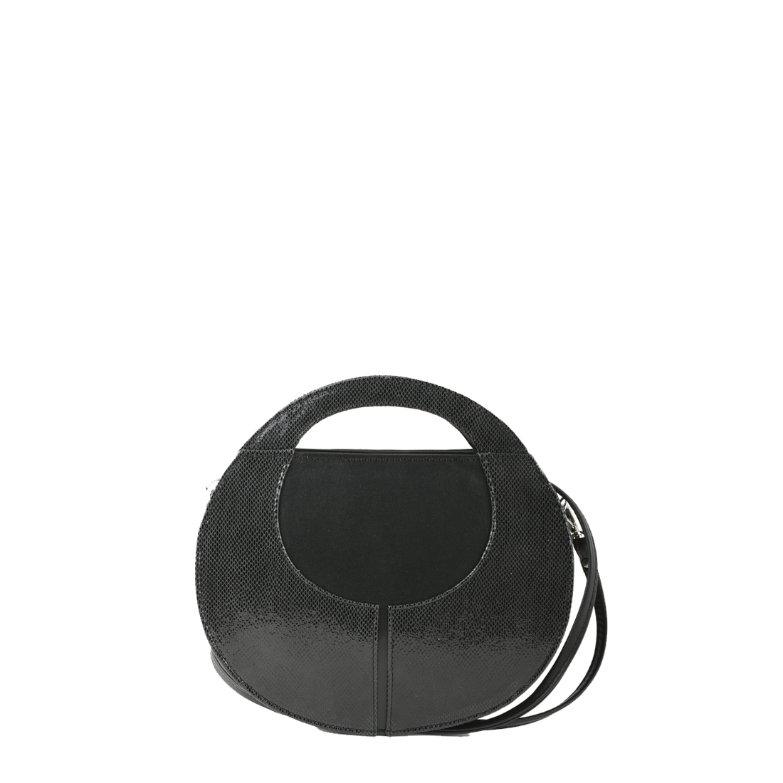 Olivia Black Print  Leather Shoulder Bag
