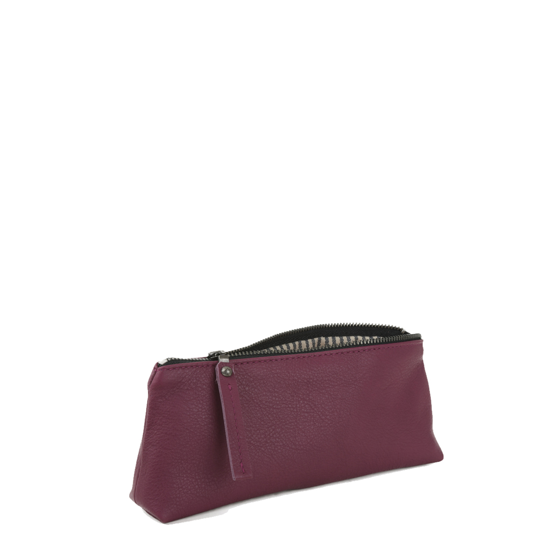 Magenta Leather Pencil Case