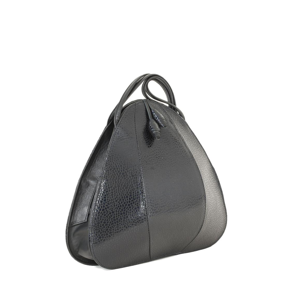 Petal Navy Print Shoulder Bag