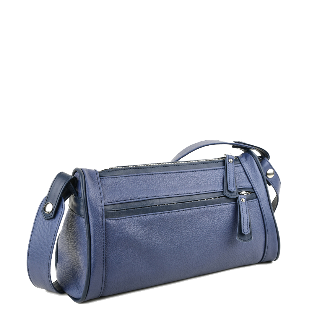 Petra Chalk Blue Leather Shoulder Bag