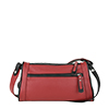 Petra Red Leather Shoulder Bag