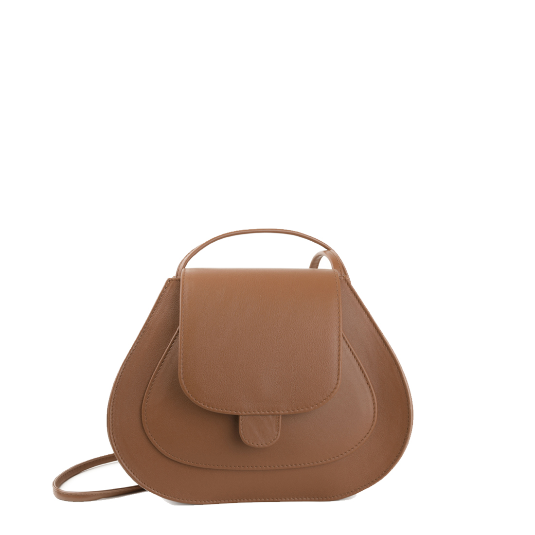 Tan Polly Leather Across Body Bag