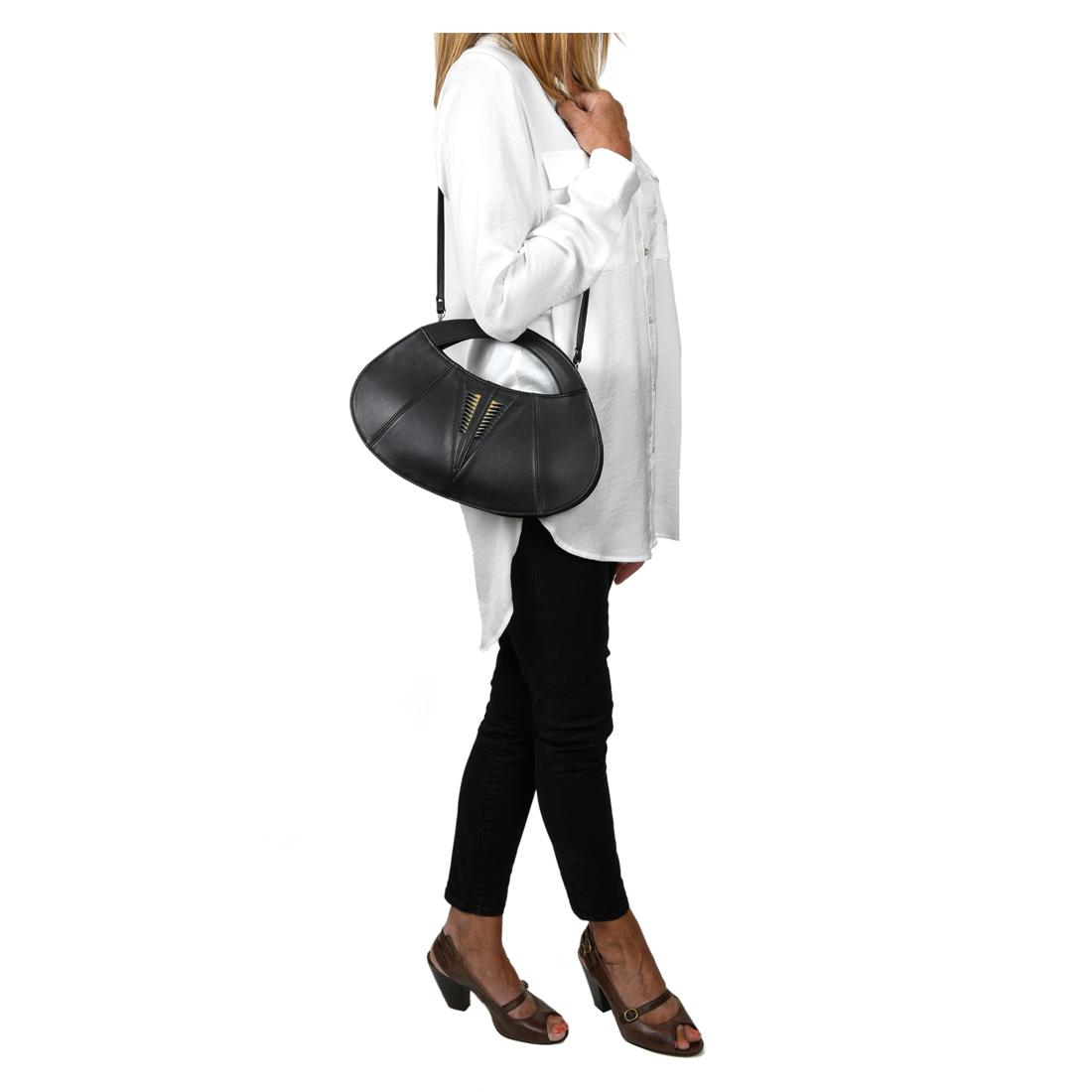 Poppy Polvere Leather Evening Bag